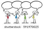 cartoon of business team with... | Shutterstock . vector #591970025