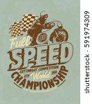 Motorcycle Racing Typography  ...