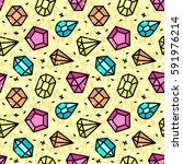 modern seamless pattern with... | Shutterstock .eps vector #591976214