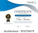vector certificate template | Shutterstock .eps vector #591978479