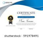 vector certificate template | Shutterstock .eps vector #591978491