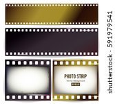 photo strip vector. realistic... | Shutterstock .eps vector #591979541