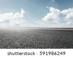 empty asphalt road under the sky | Shutterstock . vector #591986249