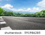 asphalt highways and mountains... | Shutterstock . vector #591986285