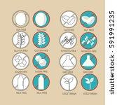 set of icons illustrating... | Shutterstock .eps vector #591991235