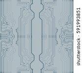 microchip background vector... | Shutterstock .eps vector #591993851