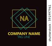 na letter logo design.sign... | Shutterstock .eps vector #591997961