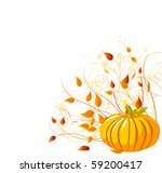 autumn pumpkin and leaves   ... | Shutterstock .eps vector #59200417