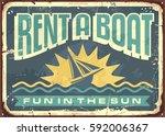 Retro Tin Sign Design For Boat...