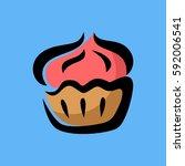 cupcakes logo icon   Shutterstock .eps vector #592006541