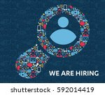 job search and career. human... | Shutterstock .eps vector #592014419