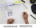 content responsive design... | Shutterstock . vector #592024751