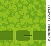saint patrick's day greeting... | Shutterstock .eps vector #592029554