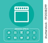organizer icon illustration...   Shutterstock .eps vector #592038299