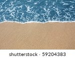 golden sand and blue sea | Shutterstock . vector #59204383