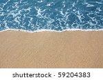 golden sand and blue sea | Shutterstock . vector #59204383