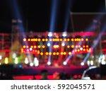 blurred background concert... | Shutterstock . vector #592045571