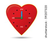 clock of love | Shutterstock .eps vector #59207320