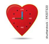 clock of love | Shutterstock .eps vector #59207320