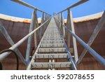 tank oil floating roof plate... | Shutterstock . vector #592078655