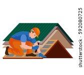 roof construction worker repair ...