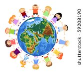 children around the world | Shutterstock .eps vector #59208190