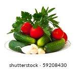 fresh vegetables  cucumbers ... | Shutterstock . vector #59208430