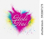 template design for holi party. ...   Shutterstock .eps vector #592087175