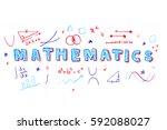 illustration of mathematics... | Shutterstock .eps vector #592088027