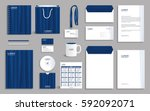 business stationery set... | Shutterstock .eps vector #592092071