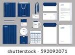 business stationery set... | Shutterstock .eps vector #592092071