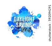 daylight saving time poster or... | Shutterstock .eps vector #592094291