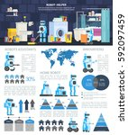 infographics high technology.... | Shutterstock .eps vector #592097459