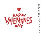 happy valentines day my sweet... | Shutterstock .eps vector #592102499