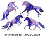 vector  watercolor illustration ... | Shutterstock .eps vector #592102505