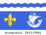 flag of hauts de seine is a... | Shutterstock . vector #592115981