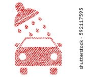 car wash vector textured icon... | Shutterstock .eps vector #592117595