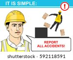 report all accidents. health... | Shutterstock .eps vector #592118591