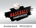 vector of baseball. | Shutterstock .eps vector #592122611