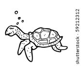 old turtle swimming | Shutterstock .eps vector #59212312