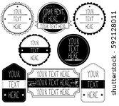 set of emblem  price tag vector ... | Shutterstock .eps vector #592128011