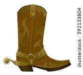 cowboy boots | Shutterstock .eps vector #592133804
