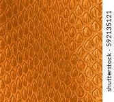 yellow artificial snake skin... | Shutterstock . vector #592135121