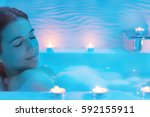 close up  low light ambient... | Shutterstock . vector #592155911