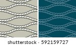 seamless pattern  ropes. two... | Shutterstock .eps vector #592159727