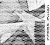 halftone dots texture... | Shutterstock .eps vector #592162691
