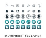 7 application ui or web  icon... | Shutterstock .eps vector #592173434