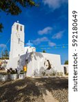 Small photo of Greece, Santorini, Thera, church with a bas-relief