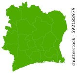 ivory coast green map | Shutterstock .eps vector #592183979