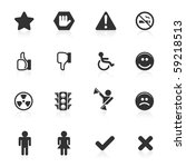 signs   symbols icons   minimo... | Shutterstock . vector #59218513